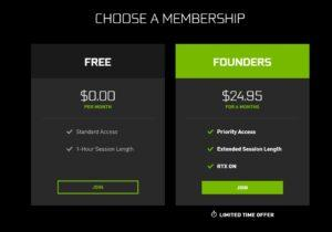 GeForce Now membership 2